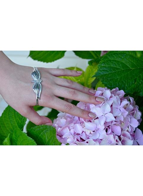 Argentum Concept Melek Motifli Gümüş El Bileziği Renkli